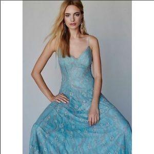 Free People Moon River Lace Midi Dress. New